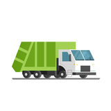Green refuse truck Royalty Free Stock Image
