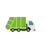 Green refuse truck Royalty Free Stock Images