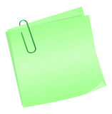 Green reminder notes Royalty Free Stock Images