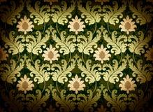 Green renaissance background. Decorative green renaissance damask background Stock Photography