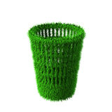 Green rendered recycle bin Stock Photography