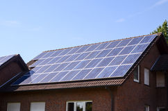Green Renewable Energy with Photovoltaic Panels Royalty Free Stock Photography