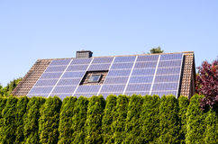 Green Renewable Energy with Photovoltaic Panels Royalty Free Stock Images