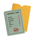 Green Report Card Stock Photo