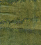 Green reptile leather texture. Green reptile leather imitation texture to background Stock Images
