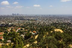 Green residential area close to Los Angeles Royalty Free Stock Image