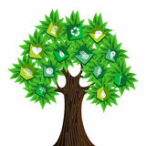 Green resources concept tree Stock Photography
