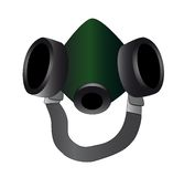 Green respirator Stock Images