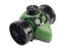Green respirator isolated on white background Royalty Free Stock Photography