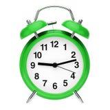 Green retro alarm clock stock illustration