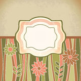 Green retro antique template. Tag Stock Photography
