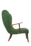 Green retro armchair Stock Image
