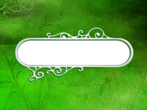 Green Retro Background and Banner Royalty Free Stock Images