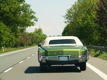 Green retro car Stock Photos