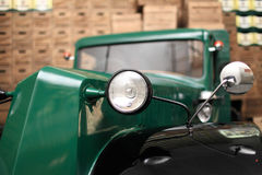 Green retro car Royalty Free Stock Images