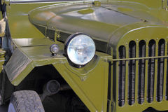 Green retro car headlight Stock Photography