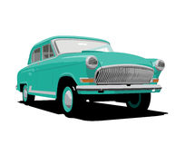 Green retro car Stock Images