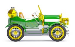 1910 green retro car side view Royalty Free Stock Photo
