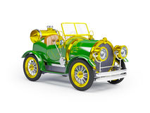 1910 green retro car Stock Photography