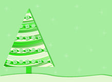 Green Retro Christmas tree background Royalty Free Stock Photos