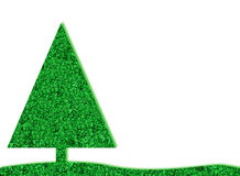 Green retro christmas tree with glitter Royalty Free Stock Photo