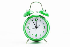 Green retro clock Stock Photography
