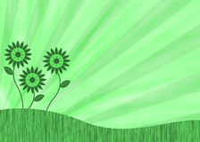 Green retro flower background royalty free illustration