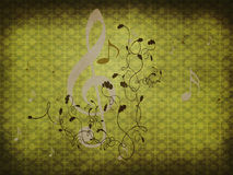 Green retro music background Stock Photography