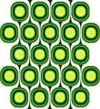 Green Retro Pattern Royalty Free Stock Photo