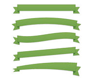 Green retro ribbons Royalty Free Stock Photos