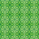 Green retro seamless pattern with circles blackground Stock Images