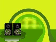 Green retro speaker background Royalty Free Stock Image
