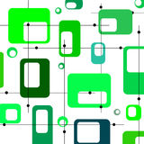 Green retro squares Royalty Free Stock Images