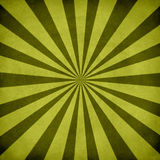 Green retro sunburst royalty free stock images