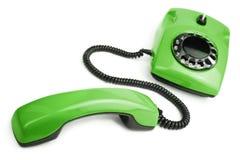 Green retro telephone isolated Royalty Free Stock Photo