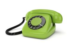 Green retro telephone Stock Photography