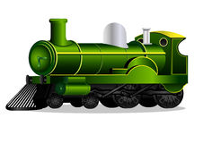 Green retro train Royalty Free Stock Image
