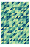 Green retro triangular pattern Stock Photo