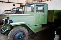 Green retro truck Stock Photography