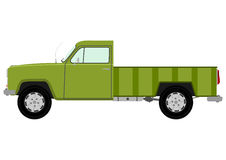Green retro truck Royalty Free Stock Image