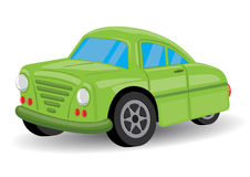Green Retro / Vintage Car Cartoon - Vector Royalty Free Stock Image