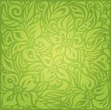 Green Retro vintage wallpaper vector design backround Stock Image