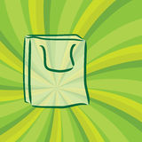 Green reusable bag Royalty Free Stock Image