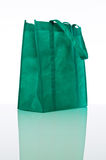 Green reusable shopping bag Stock Photos