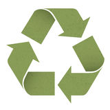 Green reuse symbol, isolated on white. Vector, EPS10 Royalty Free Stock Photos