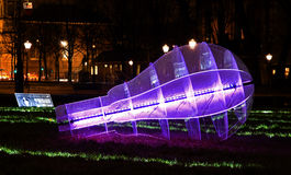 Green Revolution, Amsterdam Light Festival Royalty Free Stock Photos