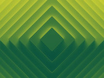 Green rhombuses abstract background image. 3D illustration. Works for text and website background, print and mobile application Royalty Free Stock Photo