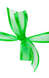 Green ribbon. On white isolated background Royalty Free Stock Image