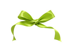 Green ribbon. Isolated on white background Stock Photo
