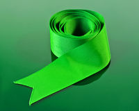 Green ribbon Royalty Free Stock Photos